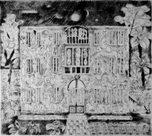 """Omaggio a """"La Casa Lunare"""" di Tono Zancanaro."""