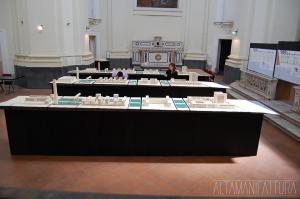 """Allestimento mostra: """"Tre progetti per Bagnoli"""" presso la Chiesa di San Demetrio e Bonifacio, Napoli."""