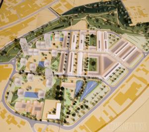 Modello architettonico P.U.A. via Botteghelle, Napoli realizzato per lo Studio UAP e il Comune di Napoli