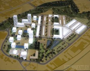 Modello architettonico di P.U.A. via Botteghelle, Napoli realizzato per lo Studio UAP e il Comune di Napoli