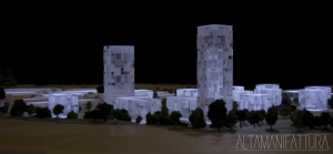 Modello architettonico di P.U.A. via Botteghelle, Napoli