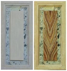 Decorazione con la tecnica imitativa del marmo.