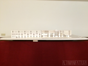 Modello architettonico del Progetto per l'ampliamento dei Modellino architettonico per i Magazzini Generali del porto di Napoli.