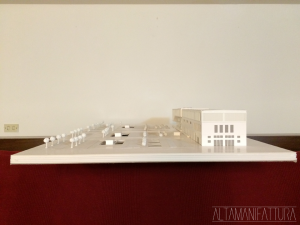 Plastico architettonico per il Progetto per l'ampliamento dei Magazzini Generali del porto di Napoli.