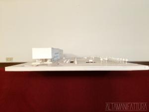 Modello architettonico del Progetto per l'ampliamento dei Magazzini Generali del porto di Napoli.
