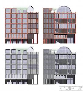 Ipotesi di prospetti per edificio residenziale, Napoli
