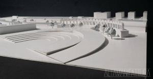 Plastico architettonico del Progetto di ampliamento della Mostra D'Oltremare.