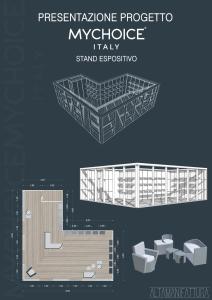 Progetto stand espositivo per marchio di moda