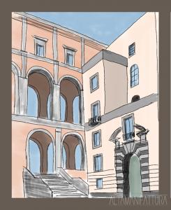Schizzo con IPad per progetto di restauro, Napoli
