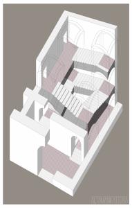 Spaccato assonometrico per progetto di restauro (napoli) copy