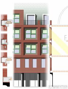 Studi dei materiali di facciata per un edificio residenziale, Napoli