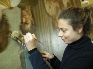 Restaurando altre opere presso il Monastero di Camaldoli, Arezzo