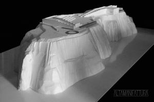 Modello architettonico in polistirene estruso