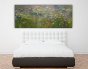 Riproduzione  del lago delle ninfee di Monet
