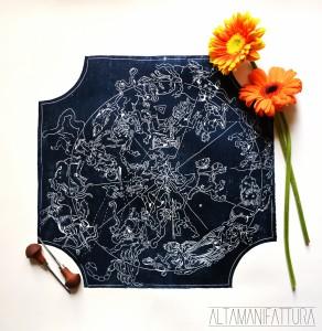 Mappa dei segni zodiacali.Omaggio a Durer.