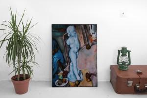 Natura morta con Puttino. Riproduzione da un quadro di Cezanne