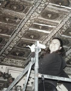Restaurando il soffitto