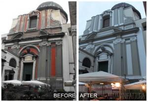 Restuaro della Basilica  di Santa Maria Maria Maggiore  alla Pietrasanta. Napoli